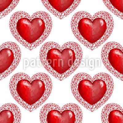 Geometrische Herzen Nahtloses Muster