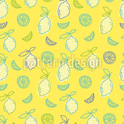Mehr Zitronen Vektor Muster