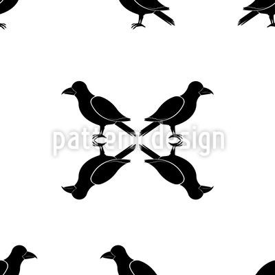 Schnee Krähe Muster Design