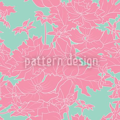 Vintage Blumen Pink Nahtloses Muster
