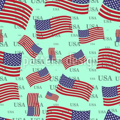 US Flag Vector Ornament