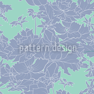 Vintage Flowers Seamless Vector Pattern