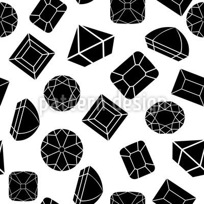 Diamanten und Juwelen Nahtloses Muster