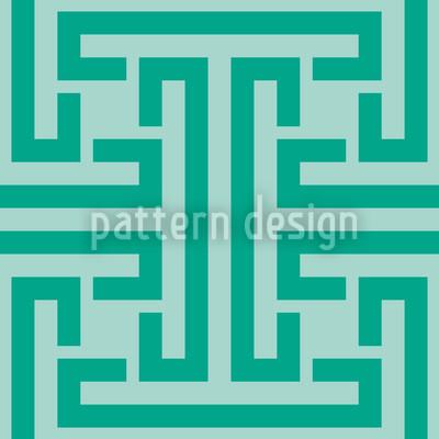 Smaragd Labyrinth Vektor Design