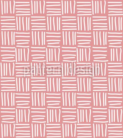 Linien Korbgeflecht Vektor Muster
