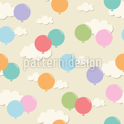 Balloons In The Clouds Pattern Design