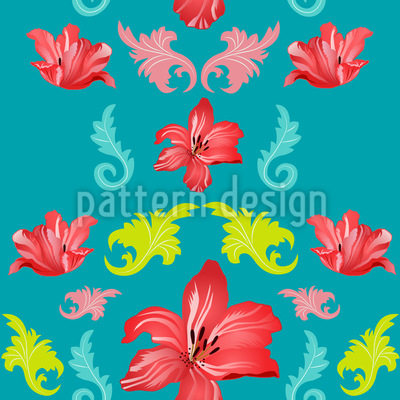 Magnificent Lilies Repeating Pattern