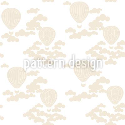 Fahrt mit dem Heissluftballon Nahtloses Muster