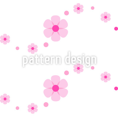 Flower Power Wave Seamless Vector Pattern