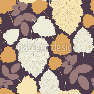 Leaves In My Garden Seamless Vector Pattern