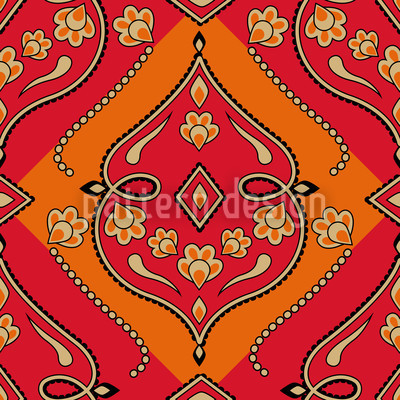 Folkloria Fire Seamless Pattern