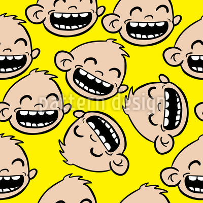 Baby Giggles Vector Pattern