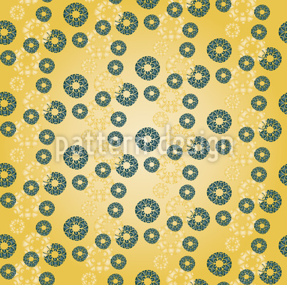 Lace Circles Seamless Pattern