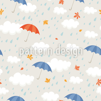 Rain Shower Seamless Pattern