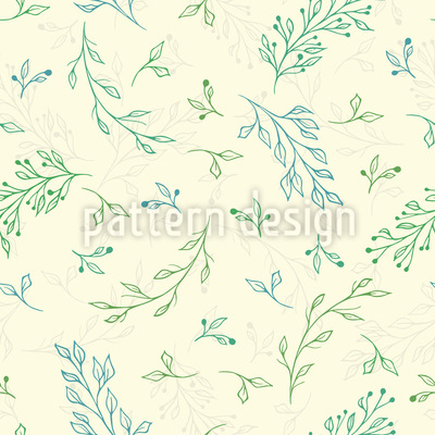 Hand gezeichnete Blätter und Zweige Vektor Muster