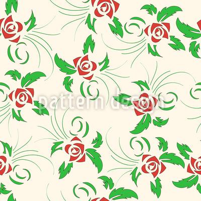 Tanzende Rosen Rapportiertes Design