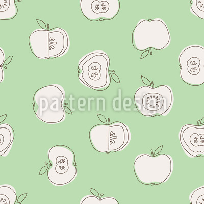 Apple For School Pattern Design