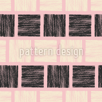 Blockprint Squares Vector Pattern