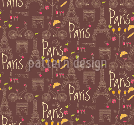 I Love Paris Repeating Pattern