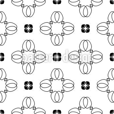Blütenblatt Kreuze Rapportmuster