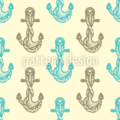 Sea Anchors Vector Pattern
