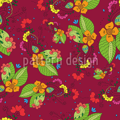 Tropical Flora Seamless Pattern