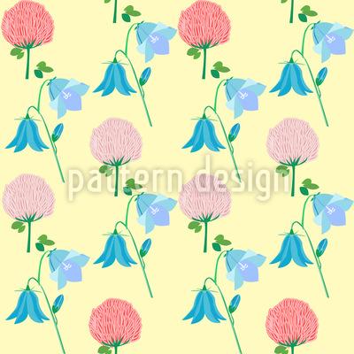 Summer Wild Flowers Seamless Vector Pattern
