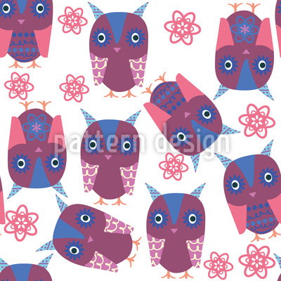 Owls In Sight Repeat Pattern