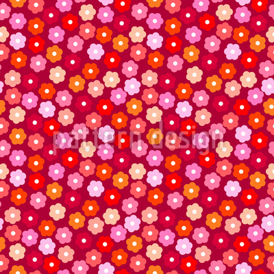 Small Daisies Vector Ornament