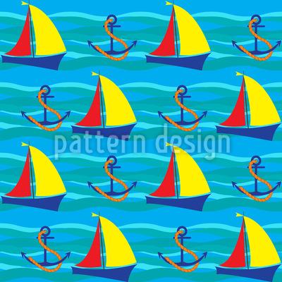Das Meer und Ich Vektor Muster