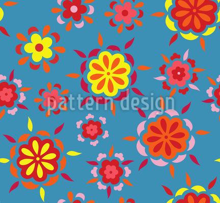 Feurige Blumen Vektor Design