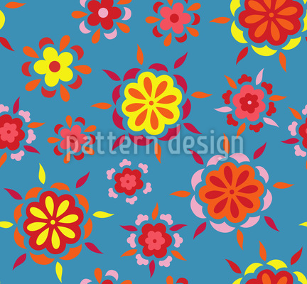 Fiery Flowers Vector Design