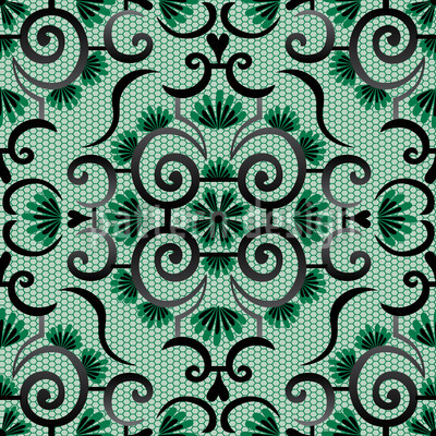 Lace Idol Green Vector Pattern