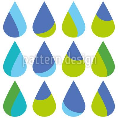 Bunte Extra Große Regentropfen Nahtloses Vektor Muster