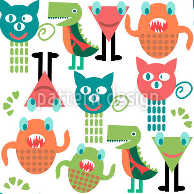Sweet Monster Repeating Pattern