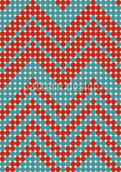 Retro Punkt Chevron Nahtloses Muster