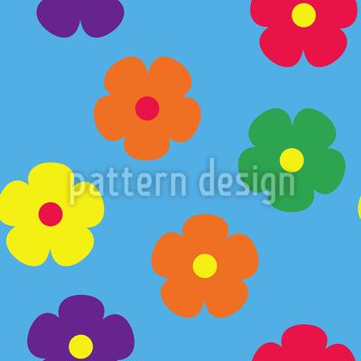 Einfache Blüten Rapportiertes Design