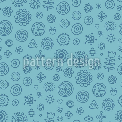 Florale Zeichenblock Doodles Muster Design