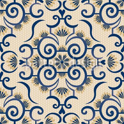 Lace Idol Beige Repeat Pattern