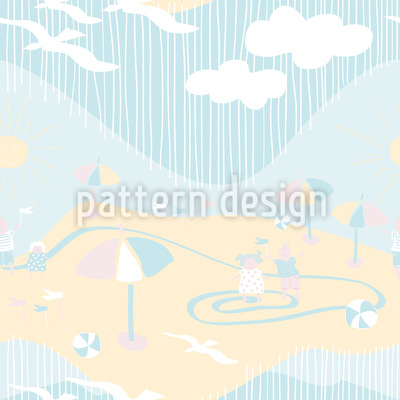 On the beach Seamless Vector Pattern