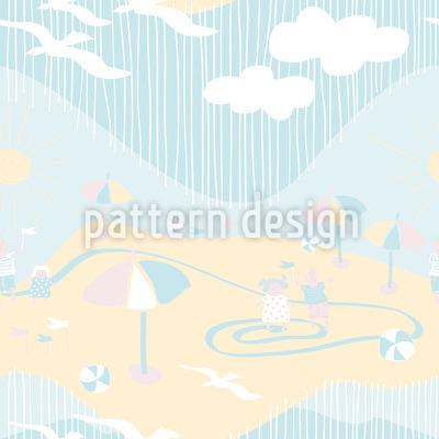 Strandspiele Nahtloses Vektor Muster
