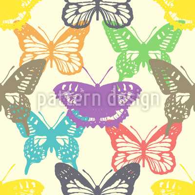 Butterfly Show Repeat Pattern