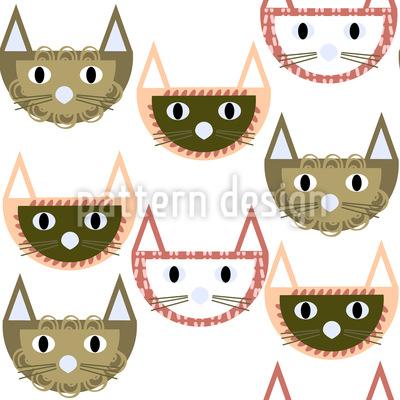 Starrende Katzen Designmuster