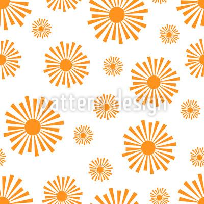 Strahlende Sonne Musterdesign