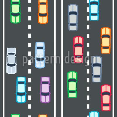 High-Speed Autobahn Vektor Ornament
