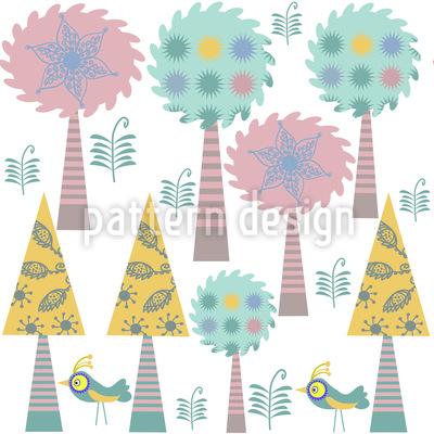 Trees In Wonderland Repeating Pattern