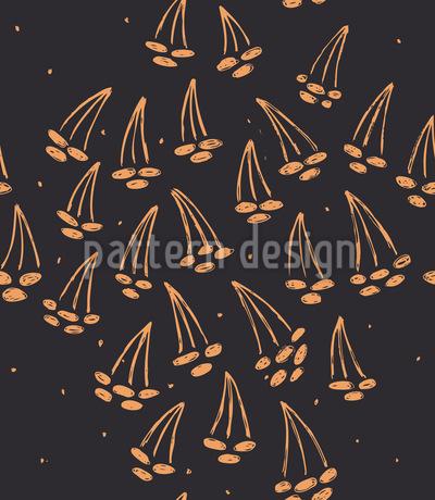 Kirschen Nacht Musterdesign