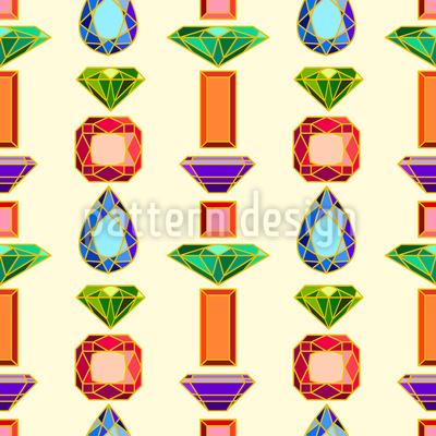 Edelsteine Muster Design