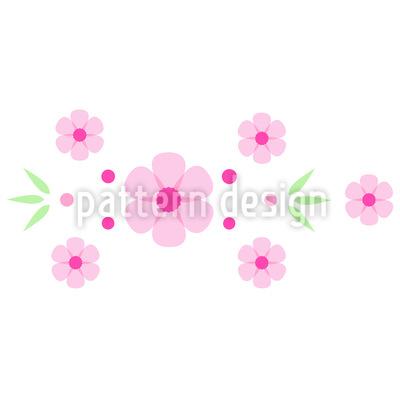 Blumen Bordüre Vektor Ornament
