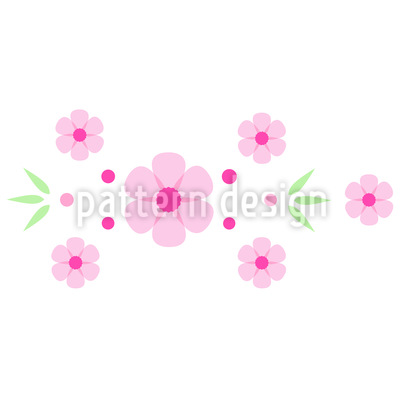 Flower Bordure Vector Ornament